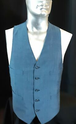 Waistcoat linen look polyester, 1960's USA, size L