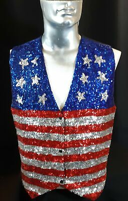 Star Spangled Banner sequined waistcoat, USA, size L