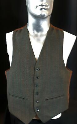 Tweed pinstriped waistcoat, 1950's, USA size M