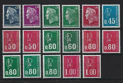 """(Lot 4) TIMBRES FRANCE N** """"MARIANNE"""" 1967-1976"""