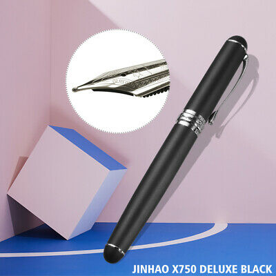 JINHAO X750 0.5mm Fine Nib Deluxe Medium Fountain Pen With Chrome Trim Gift