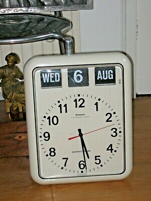 GRAYSON TIME MANAGEMENT SYSTEM model G239 AUTOMATIC CALENDAR FLIP WALL CLOCK