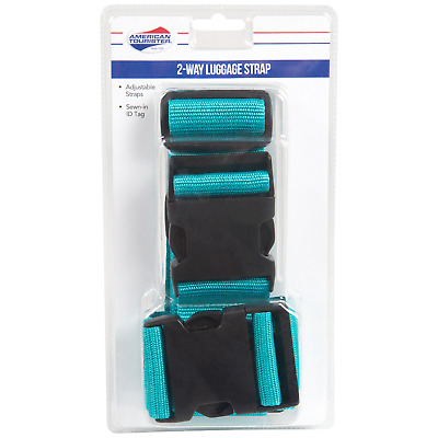 American Tourister 2-way  Luggage Strap blue atol adjustable up to 74 inches