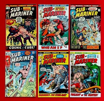 Silver Age Comic Lot. Sub-Mariner Mid-higher Grades. 6 Books 38-53