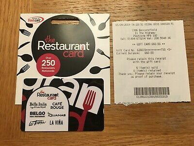 The Restaurant Gift Card £60 Unwanted Gift