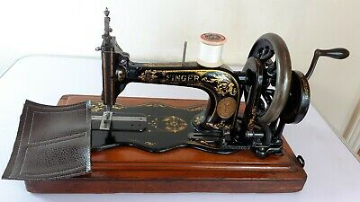 ANTIQUE Singer 12K FIDDLEBASE Sewing Machine, FULLY SERVICED, sews BEAUTIFUL