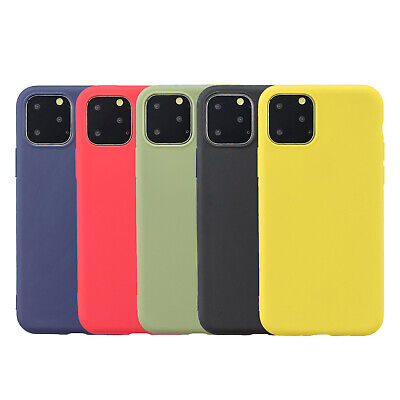For iPhone 11 Pro Max XS XR 8 7+ 6s Case Hybrid Soft Gel Rubber Ultra Thin Cover