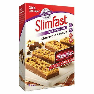 *NEW* SlimFast Chocolate Crunch Meal Replacement Bars 16 x 60g - FREE DELIVERY