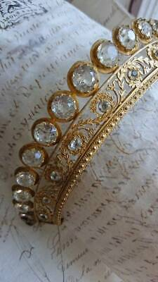 EXQUISITE ANTIQUE FRENCH SAINTS BEJEWELED COURONNE CROWN TIARA 19th century