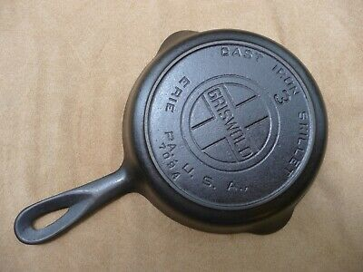 Griswold # 3 Skillet - Large Block Logo - Heat Ring - 709 A - Cast Iron
