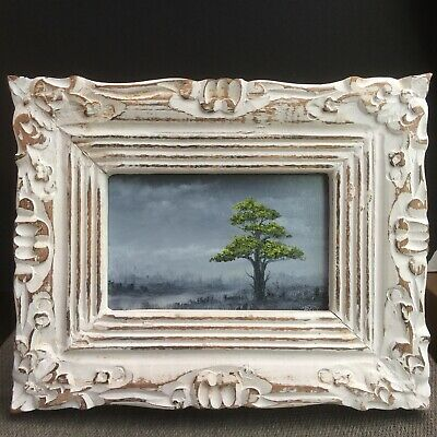 Oil Painting Framed Signed Original Landscape By Pip Walters 6 x 3.5""