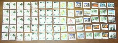 75 Canada Post P-Stamps Uncancelled Off Paper No Gum.  Value $67.50 (Assorted 2)