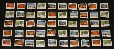 50 Canada Post P-Stamps Uncancelled Off Paper No Gum. Value $45.00 (Scenery)