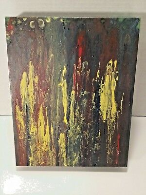 "Orginal Painting Abstract Acrylic Pour Art Texture Wall Art  On 8""x10"" Canvas"