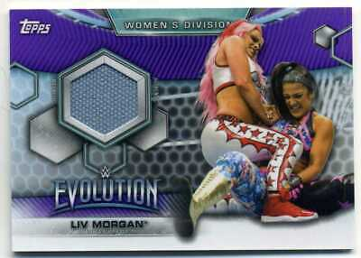 Liv Morgan 2019 Topps Wwe Womens Division Evolution Purple Mat Relic 23/99 Made