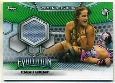 Sarah Logan 2019 Topps Wwe Womens Division Evolution Green Mat Relic 70/150 Made
