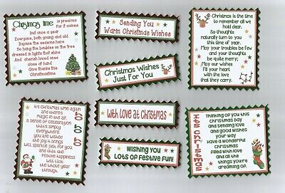 4 THINKING OF YOU Greeting Card Craft Scrapbook Verse Toppers W//WO Sentiments