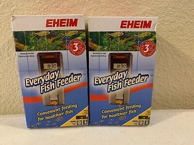 Lot Of 2 EHEIM Everyday Fish Feeder Programmable Automatic Food Dispenser