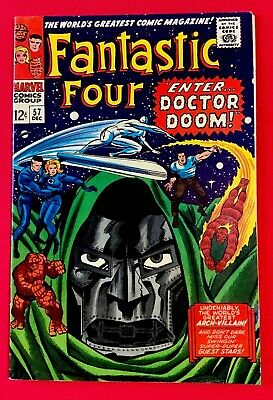Silver Age Comic Fantastic Four #57. Silver Surfer & Dr Doom App. Key Book