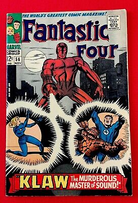 Silver Age Comic Fantastic Four #56. Key Apps. Black Panther Cameo.