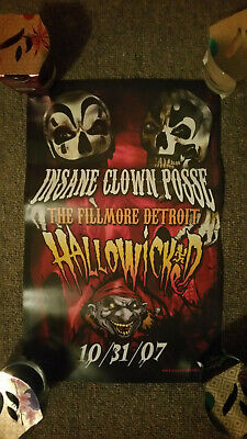Psychopathic ICP Insane Clown Posse 17x11 Hallowicked Poster NEW Never Displayed