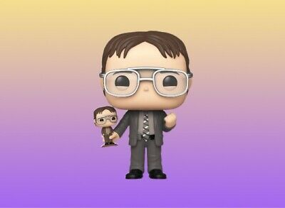 Funko Pop! NYCC 2019 The Office Dwight Schrute Holding His Bobblehead! PRESALE!