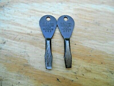 Vtg. Proto Los Angeles Key Chain Screw Driver, Tool & Equip Dist. Inc , Lot Of 2