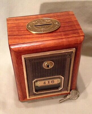 Antique Vintage Post Office Door Mail Box Postal Bank-1912 Corbin w/Two Keys
