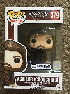 Assassins Creed Aguilar Crouching Funko POP 379 Loot Crate Ex Box Damage See Pic