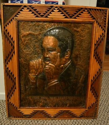 Exceediingly Rare Nation Of Islam African American Art Framed 22X26 Muhammad