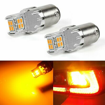 10 BULBS 2057NA 12 VOLT 32-2CP,NATURAL AMBER BRASS SOCKET,CAN BE USED FOR 2057A