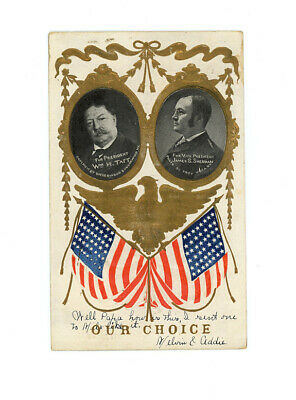 WILLIAM McKINLEY, WILLIAM TAFT collection of 2 vintage postcards US PRESIDENTS