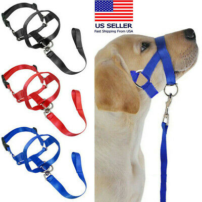 No Pull Straps for Training Dogs Dog Pet Head Collar Gentle Halter Leash Leader