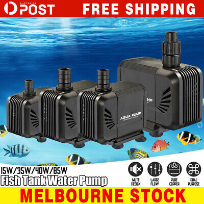 Water Pump Submersible Electric Quiet Aquarium Fountain Pond Fish Tank AU Plug