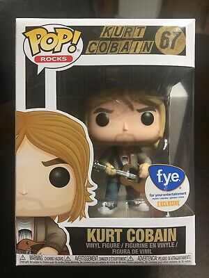 Funko Pop Rocks Kurt Cobain 67 FYE Exclusive