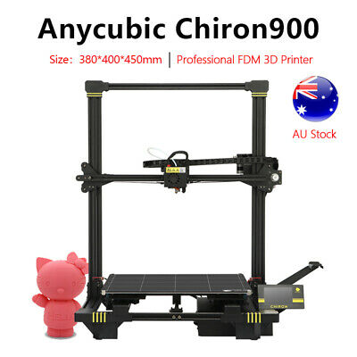 AU ANYCUBIC Upgrade Chiron900 3D Printer TFT Large Print Size Heat Bed Free PLA