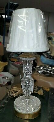 Giftware Collection Mouth-Blown Hand-Cut Crystal Glass Boudoir Lamp By Waterford