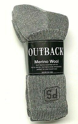 Premium  PEOPLE SOCKS 71% Merino Wool Thermal Gray Crew Sock SZ  9-11,USA.