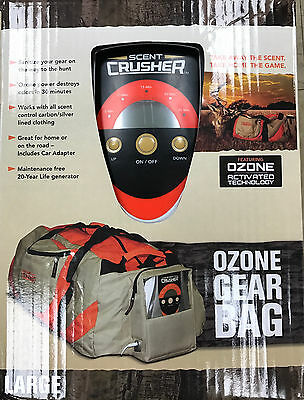 New Scent Crusher Ozone Gear Bag 12V Adapter 110V Charger 59302
