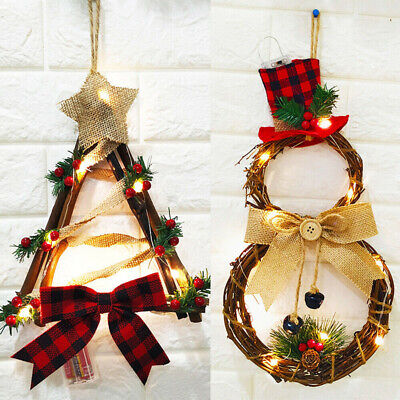 Christmas Wreath Decor For Xmas Home Festival Door Wall Garland Flower Ornaments