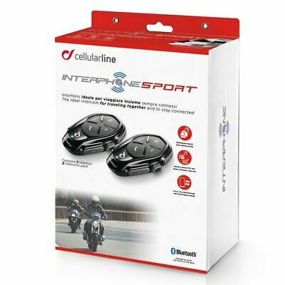 Interphone Sport Motorcycle Bluetooth Intercomm Comms - Twin Headsets