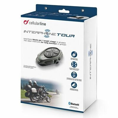 Interphone Tour Motorcycle Bluetooth Intercomm Comms - Single Headset