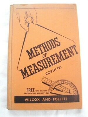 Rare Vintage 1940's Methods of Measurement Instructions Tools Illustrated Book