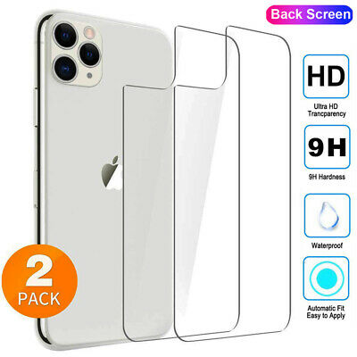 2Pcs 9H HD Tempered Glass Back Film for iPhone 11 Pro Max X XR XS 8+ Back Screen
