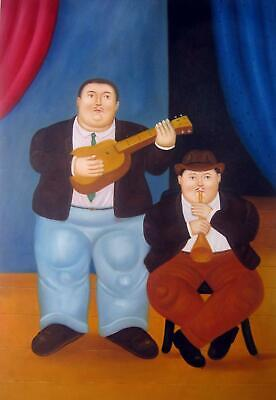 Rep. Fernando Botero 24x36 in. stretched Oil Painting Canvas Art Wall Decor m209