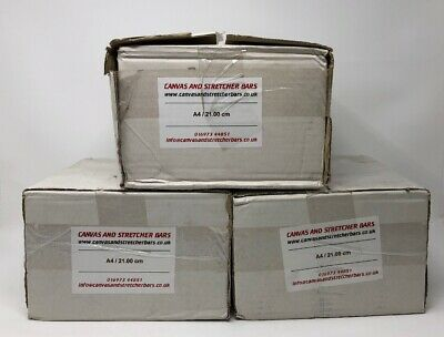 3 BOXES OF 24 21cm GALLERY Canvas Stretcher Bars Pine 38mm x 40mm WIDE inc wedge