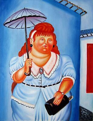Rep. Fernando Botero 12x16 in. stretched Oil Painting Canvas Art Wall Decor m304