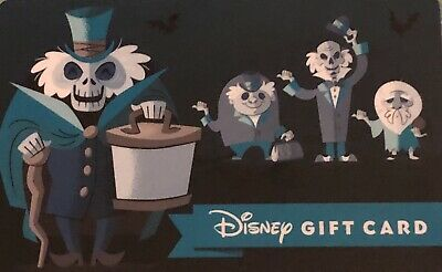Haunted Mansion Hatbox Hitchhiking Ghosts $0 Balance Gift Card Disney Parks