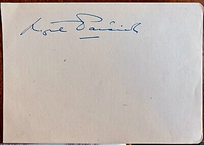 Nigel Patrick : 1912 - 1981 English 'Debonair' Film Star Genuine Clear Autograph