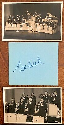 Ted Heath Genuine Autograph And Early Band Photo's
